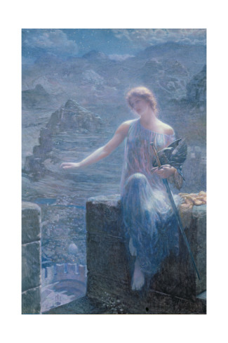 edward-robert-hughes-the-valkyrie-s-vigil-1906
