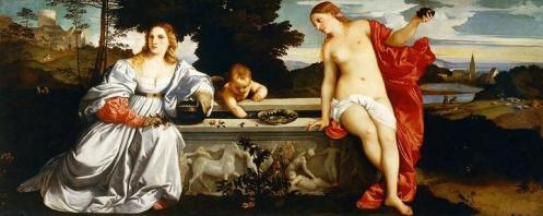 Titian Sacred Profane - small