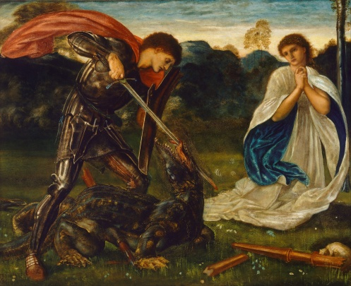 Edward_Burne-Jones_-_The_fight-_St_George_kills_the_dragon_VI_-_Google_Art_Project