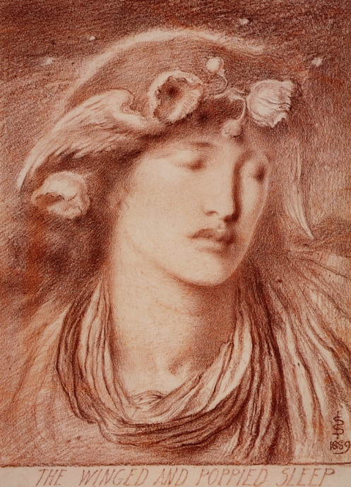 Solomon_Simeon_Winged_Poppied_and_Sleep_1889_red_chalk_on_paper_55_3x40_AberdeenArt_Gallery-large