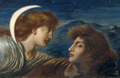 The Moon and Sleep 1894 by Simeon Solomon 1840-1905