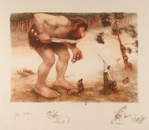 Jean Veber - The Giant, The Ogre And The Fairy, 1905